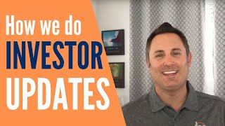 How We Do Our Investor Updates! | Multifamily Investing