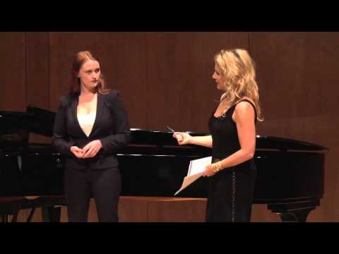 Joyce DiDonato Master Class, October 4, 2013: Avery Amereau and Bretton Brown