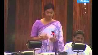 MP Upeksha Swarnamali in Parliament