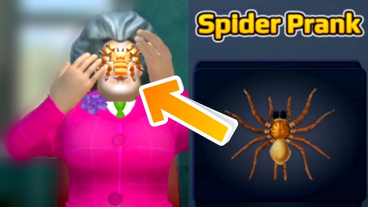 Download Scary Teacher 3D - Gameplay Walkthrough - Miss T - Spider Prank! Android - iOS