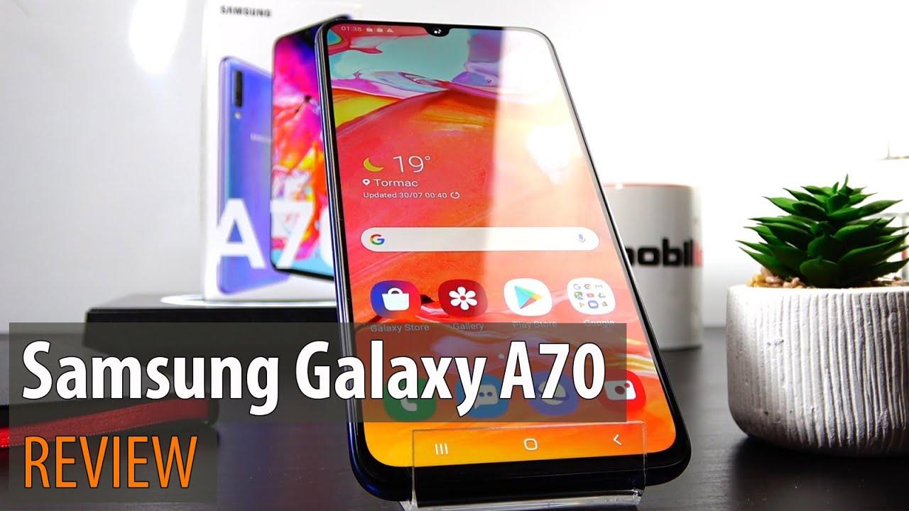 Samsung Galaxy A70 Review în Limba Română  (Telefon midrange cu baterie și ecran de zile mari)