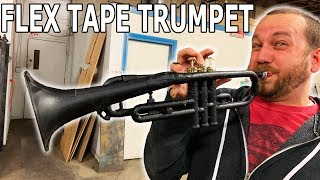 Trumpet Cut in Half then Flex Tape and Flex Seal'd Together