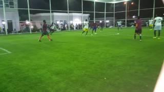 Adam A. Zango playing foot ball