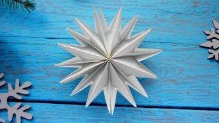 Сніжинка з паперу ❄ Вироби на Новий Рік