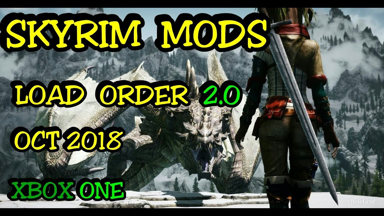 SKYRIM Mods Load Order 2 0 XBOX ONE ( Skyland, Tera armor, 7base body, Old  kingdom   )