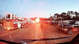 Engine 3 Responding to a Commercial Structure Fire [GoPro HD]