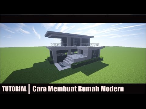 Minecraft Tutorial Cara Membuat Rumah Modern 2 Youtube