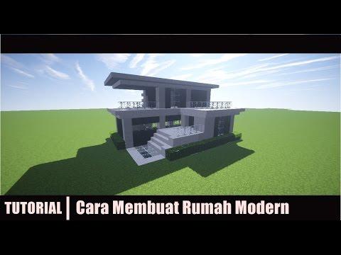 Minecraft Tutorial Cara Membuat Rumah Modern 2 Youtube