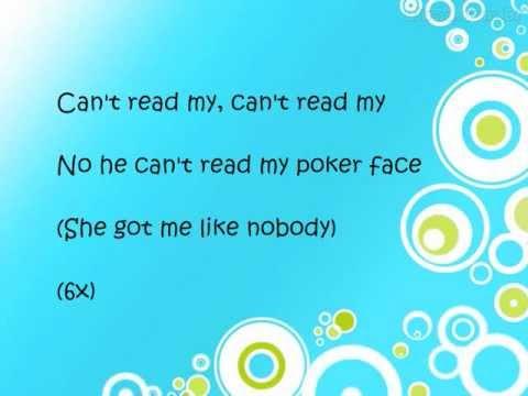 lady gaga poker face lyrics on screen