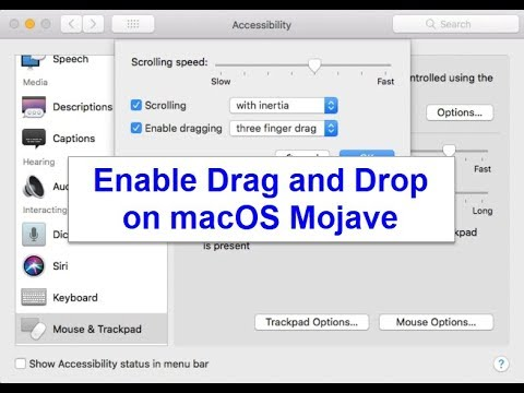 How to Enable Drag and Drop on macOS Mojave
