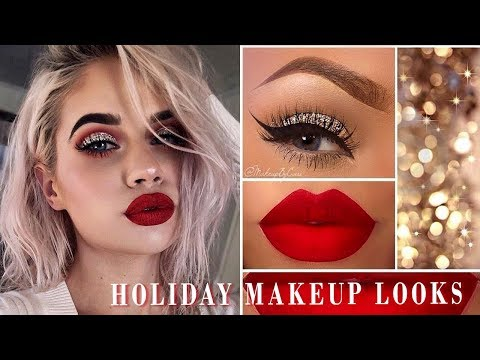 12 Festive Makeup Looks For This Christmas | Holiday Makeup Tutorial Compilation 2018