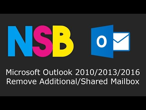 How to remove additional email account from outlook 2020