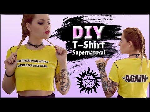 DIY - SUPERNATURAL 4 Camisetas Lindas De SPN Mega Fácil + SORTEIO