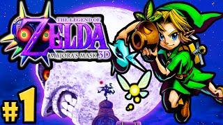 The Legend of Zelda Majora's Mask 3DS Gameplay Walkthrough PART 1 Clock Town Scrub Nintendo
