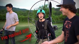 16 Year Old Flies A Paramotor For The First Time!