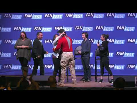 The Walking Dead: Carl & Enid Panel Chandler Riggs and Katelyn Nacon