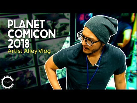 Planet Comicon 2018 - Artist Alley Vlog