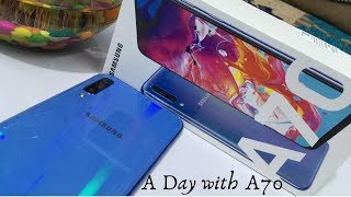 Samsung Galaxy A70 Unboxing and Review with Camera Details II A Day with Samsung Galaxy A70