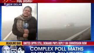 Dense fog envelops Delhi; 3 dozen flights hit, trains running late