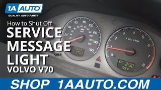 How To Shut Off Time for Regular Service Reminder Message Light 99-07 Volvo V70 XC70 S60 S80 XC9