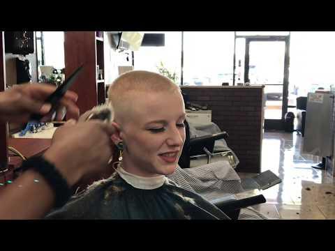 nellie-lv:-female-blonde-crew-cut-at-barber-shop-(yt-original)