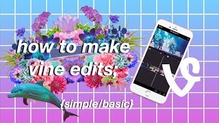 HOW TO MAKE A VINE EDIT (SIMPLE W/ AN IPHONE) 💘