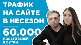ТРАФИК НА САЙТЕ 60 000 ПОСЕТИТЕЛЕЙ В СУТКИ В НЕСЕЗОН - КЕЙС - АЛЕКСЕЙ И СВЕТЛАНА