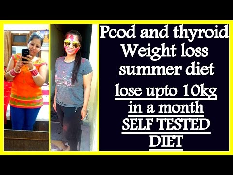 PCOD/PCOS Summer Diet Plan for Weight Lose | How To Lose Weight Fast 10 kgs in 1 Month in PCOS