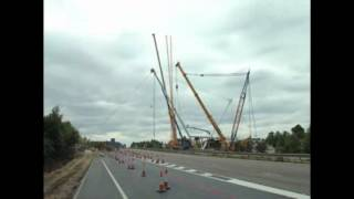 M20 J9 Footbridge Construction