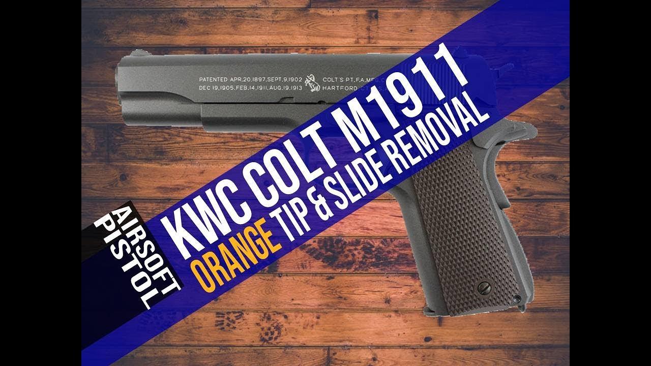 KWC Colt M1911 CO2 Orange Tip and Slide Removal