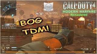 Modern Warfare Remastered Multiplayer! Beat Down in The Bog! COD4 Remastered MP5 Gameplay!