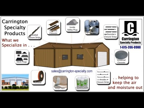Metal Building Insulation Components and Accessories