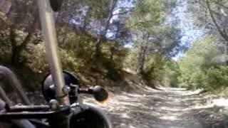 hard buggy car in spanish mountain