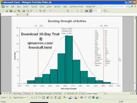 Histogram Maker In Excel Youtube