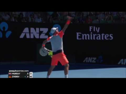 Mischa Zverev vs Andy Murray: Australian Open 2017. ALL points.