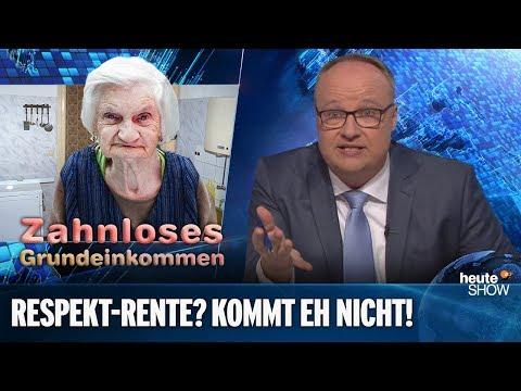 Die SPD will plötzlich etwas gegen Altersarmut tun | heute-show vom 08.02.2019
