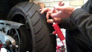 Delboy's Garage, Emergency Puncture Repair, Motorcycle Tyre.