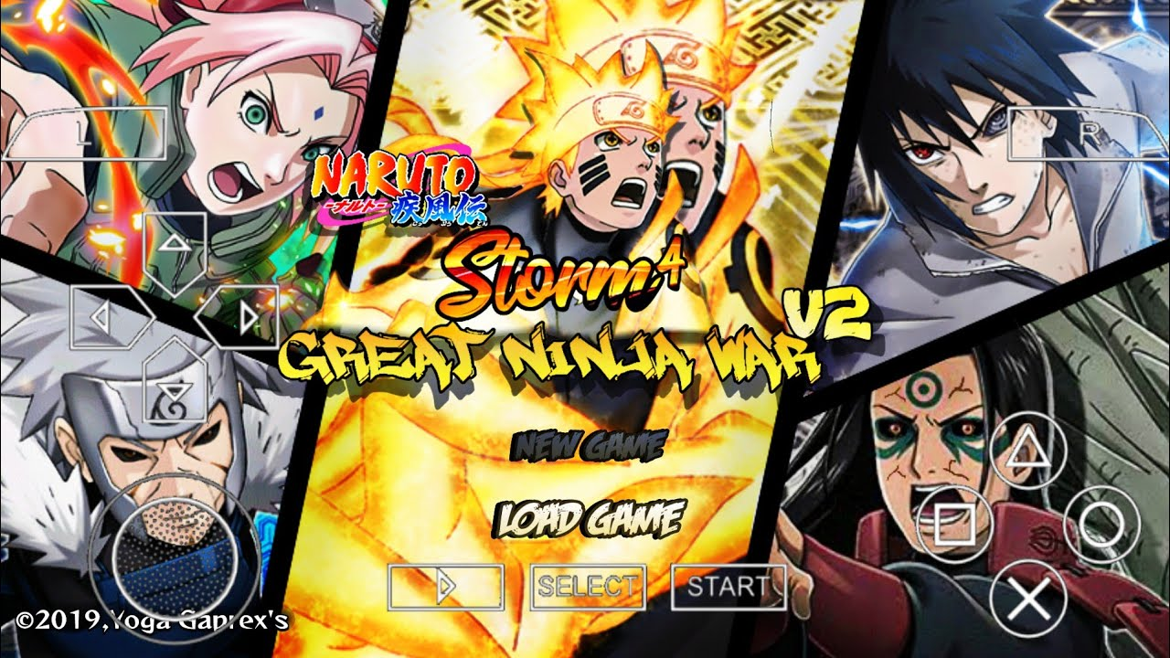 Nsunh3 Mod Naruto Storm 4 Great Ninja War V2 Heroes 3 Para Ppsspp Android Youtube