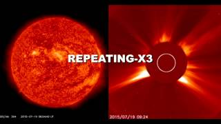 SOLAR ACTIVITY UPDATE: 45% chance of polar geomagnetic storms on July 23rd.