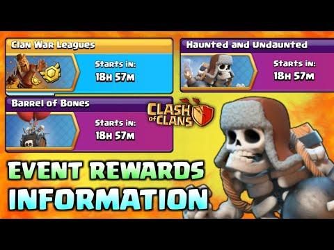 Upcoming Haunted & Undaunted + Barrel of Bones Event Full Rewards Information I Clash Of Clans 2018