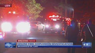 Neighbor says explosion preceded Wake County blaze