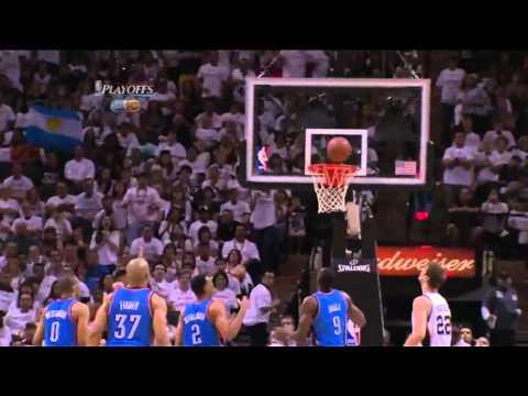 Manu Ginobili season high 34 points vs Thunder full highlights GM5 WFC NBA Playoffs 2012.06.04
