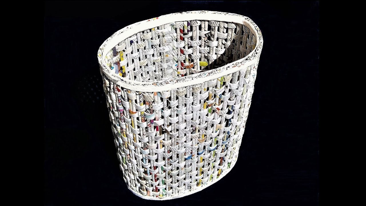 How to make a newspaper basket diy basket making best for Making best from waste