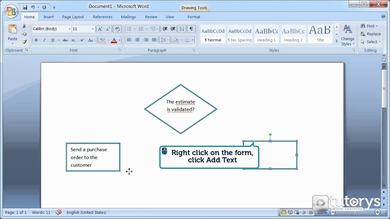 how to make a diagram with word 2007 youtube rh youtube com how to make a block diagram in word 2016 how to make a block diagram in microsoft word 2010