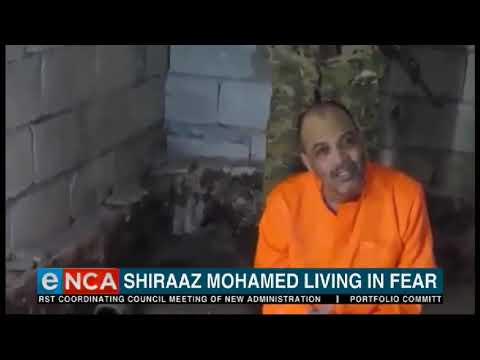 Shiraaz Mohamed says his  living conditions have worsened