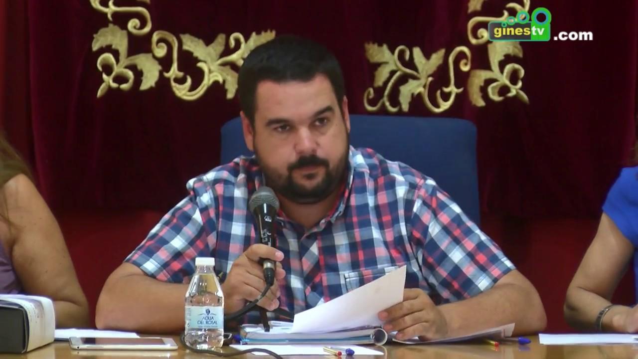 Pleno Ordinario del Ayuntamiento de Gines. 26 julio 2017