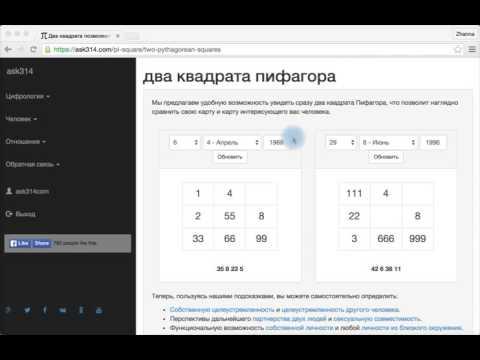 О чём говорят Квадраты Пифагора?- ЦИФРОЛОГИЯ - ask314.com