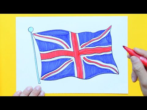 How to draw and color the Union Jack - National Flag of United Kingdom