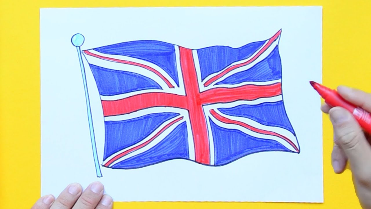 How To Draw And Color The Union Jack