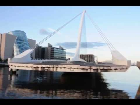 Samuel Beckett Bridge opening. #Dublin June 2014